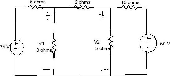 Solved: Use The Node Voltage Method To Determine V1 AndV2