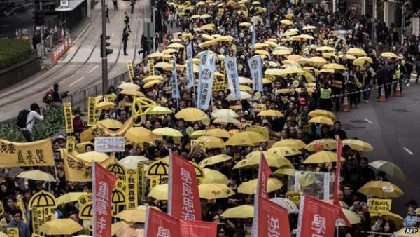二月一日爭取「真民主」大遊行