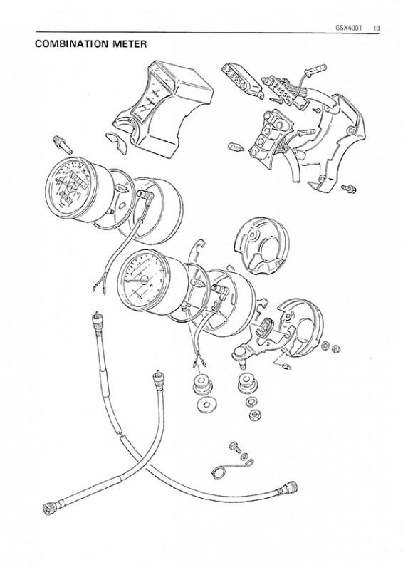 Suzuki GSX 400 E L S T Repair Manual Assembly Manual