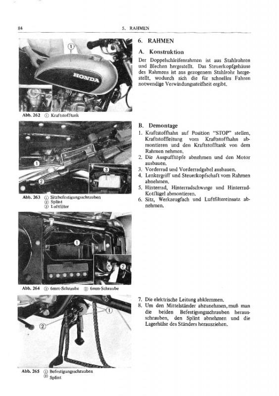 Honda CB 500 F Four CB500 1971-1975 Reparaturanleitung
