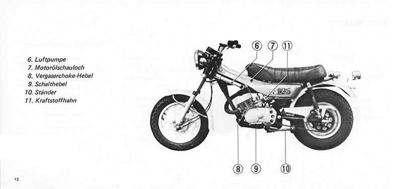 Suzuki RV 125 Operating Instructions Manual Manual (German)