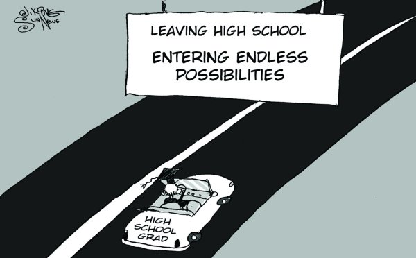 Graduation Editorial Cartoon