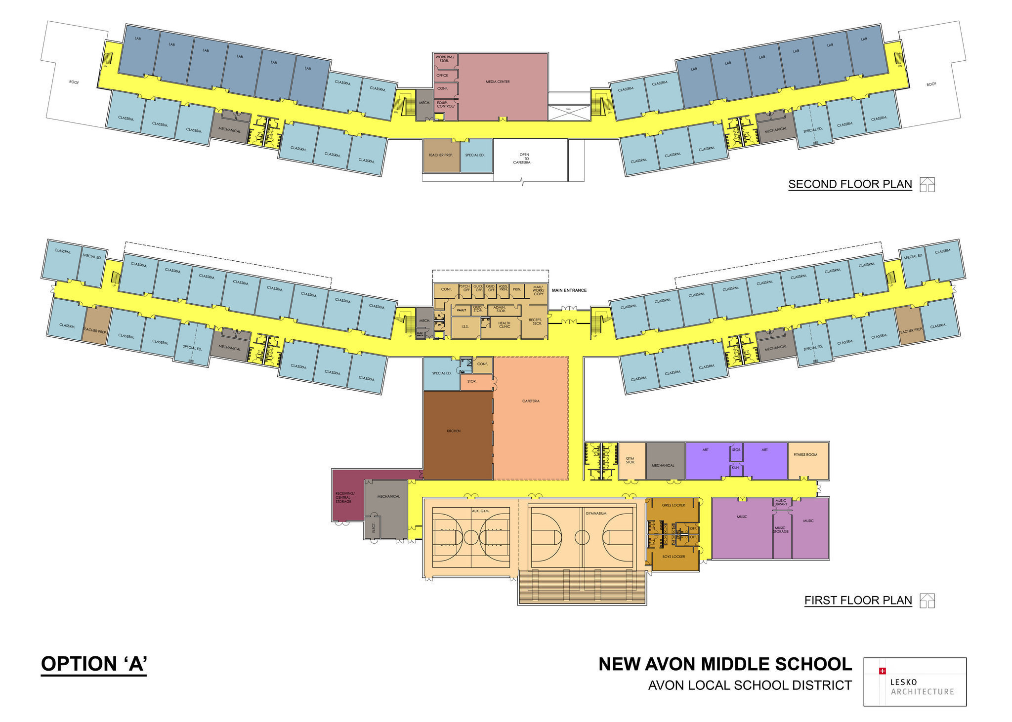 Possible Floor Plan For New Avon Middle School Is Unveiled