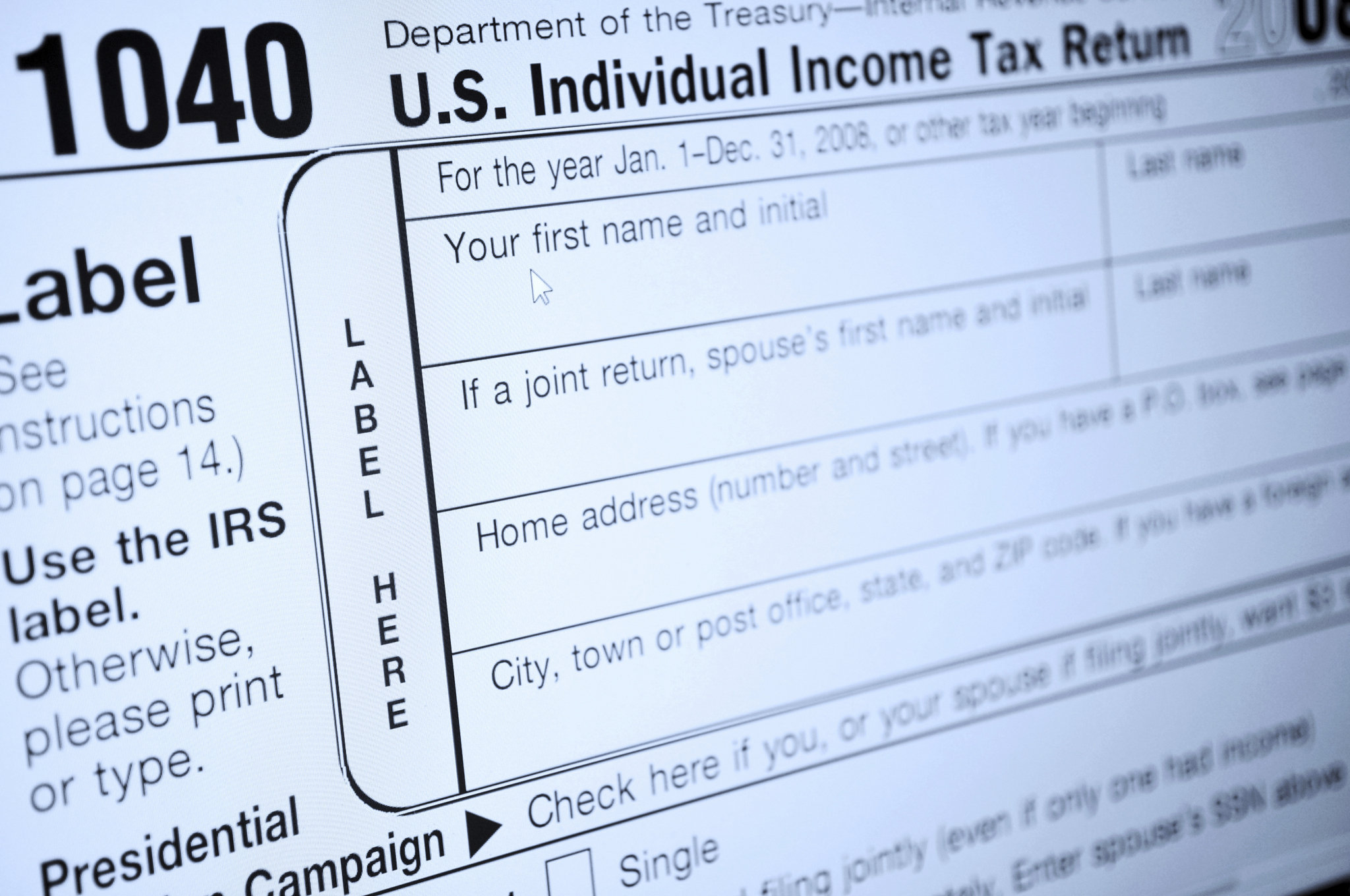 Don't make checks out to 'IRS' for federal taxes, or your