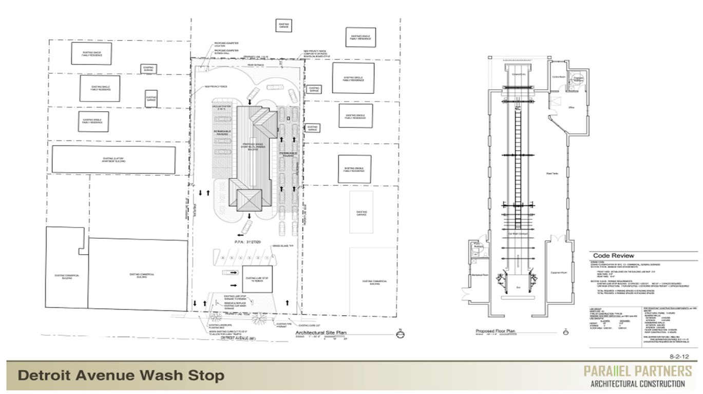 hight resolution of view full sizethe new wash stop car wash will be located directly behind lube stop on detroit avenue
