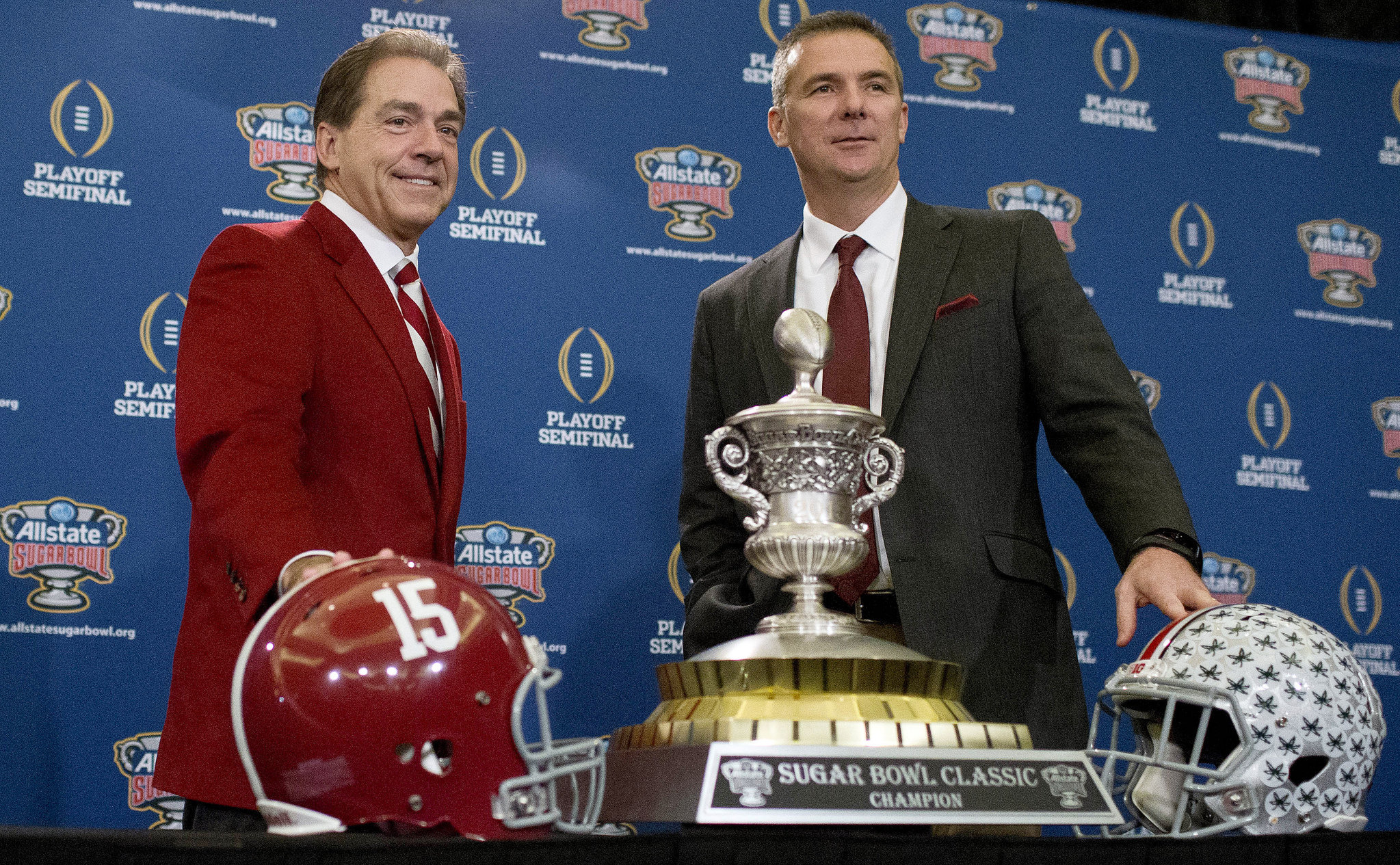 Image result for nick saban urban meyer