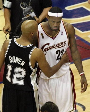 Image result for lebron james loses to spurs 2007