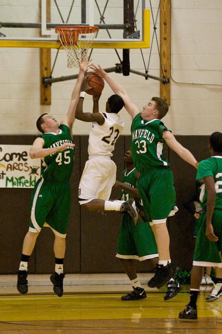 Boys basketball Brush High School vs Mayfield High