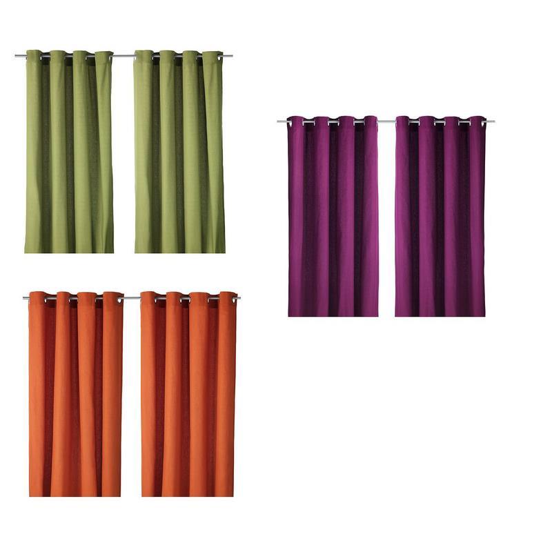 IKEA Cortinas Par MARIAM opaco 3 Colores Tapices