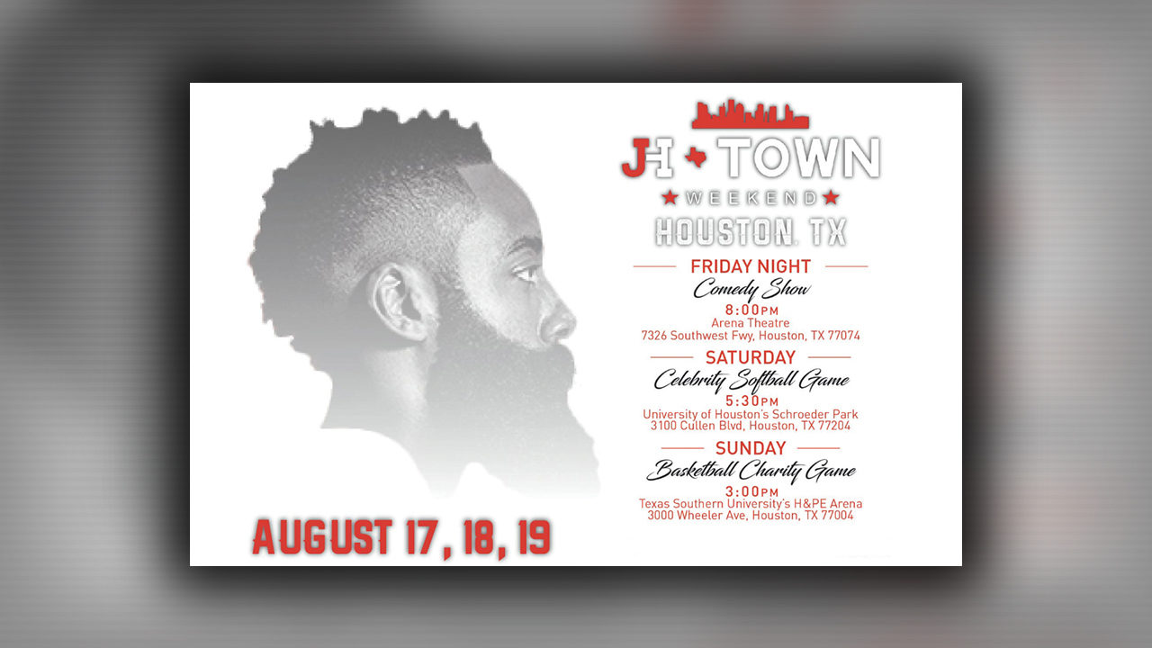 Houston get ready for James Hardens 2018 JHTown Weekend