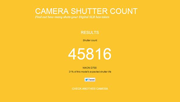 Camera Shutter Count  contatore scatti  usura otturatore