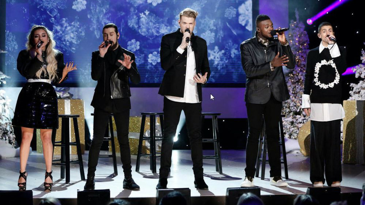 Pentatonix Chrismas Special Time channel special guests and