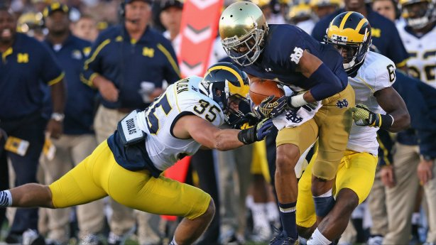 Image result for tony jones jr notre dame vs michigan