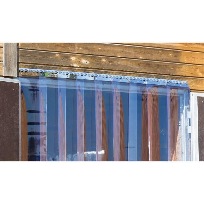 profile de fixation barre de suspension en inox pour fixer des rideaux a lamelles en pvc 30 cm