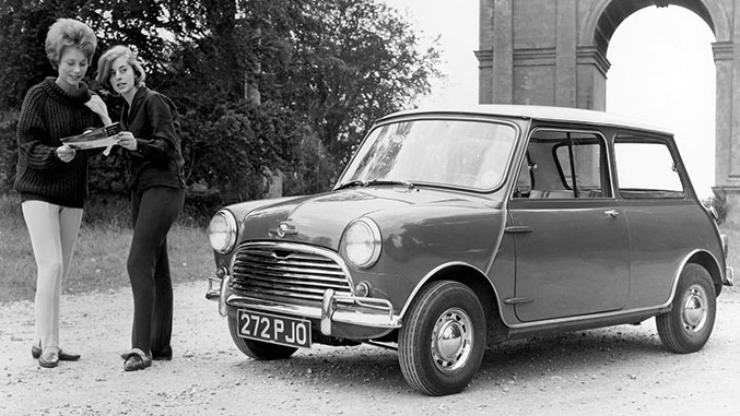 Classic Mini Cooper Winding Road