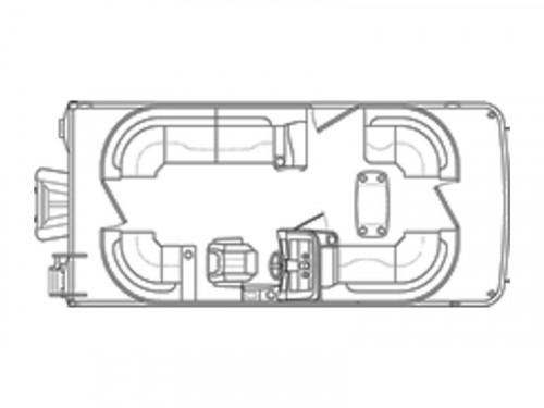 2019 BENNINGTON 21SSRCXP W/ YAMAHA F150 4-STROKE O/B