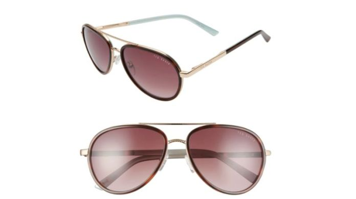 Ted Baker London 58mm Aviator Sunglasses