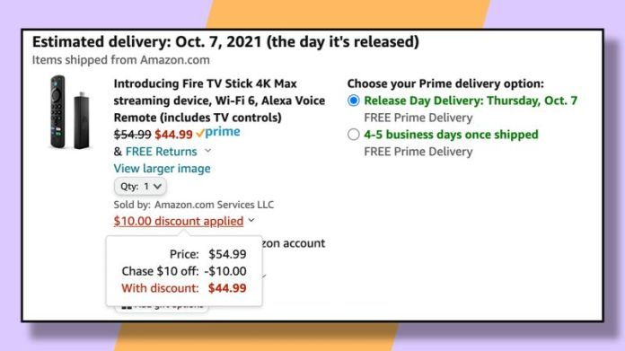 Use your Chase points and this Amazon promotion to knock $10 off the price of the new Fire TV Stick 4K Max.