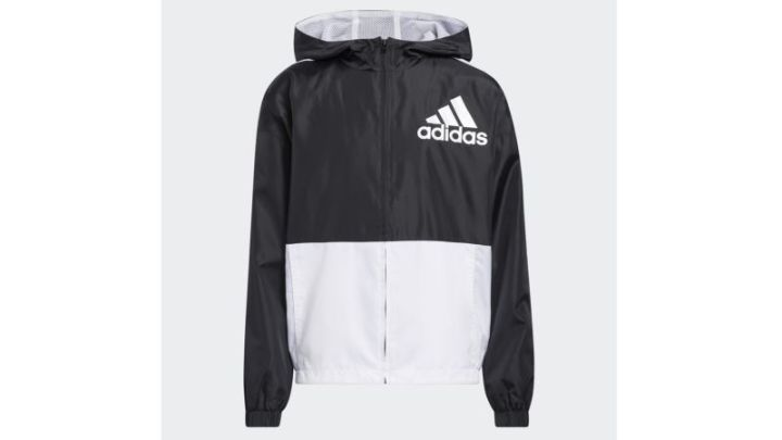 Colorblock Wind Jacket With Hood