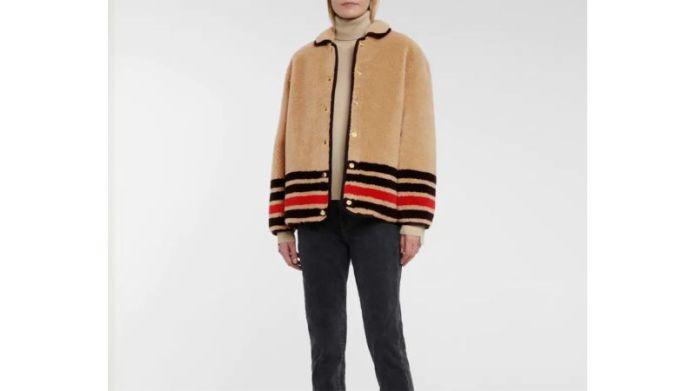 बरबेरी ऊन-मिश्रण ऊन जैकेट