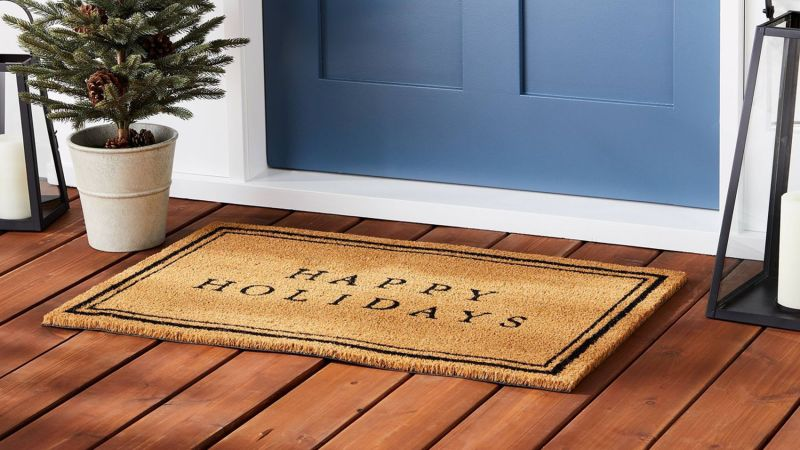 Hearth & Hand With Magnolia Happy Holidays Bordered Coir Doormat