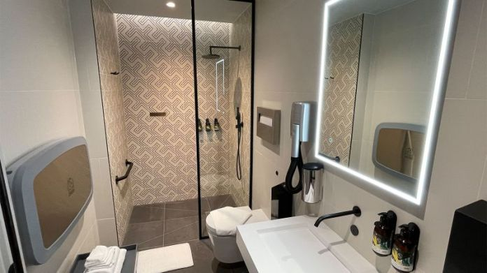 One of the shower rooms.