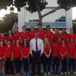 Cayman's swim team at CARIFTA games
