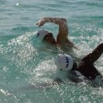 Open-water swim attracts 25 teams
