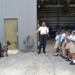 Primary students visit air and sea police