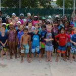 Young swimmers have fun in the sun