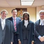 Alicia Thompson called to the bar