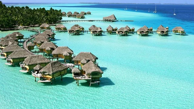 my five overwater bungalows