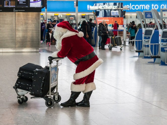 Image result for christmas morning airport