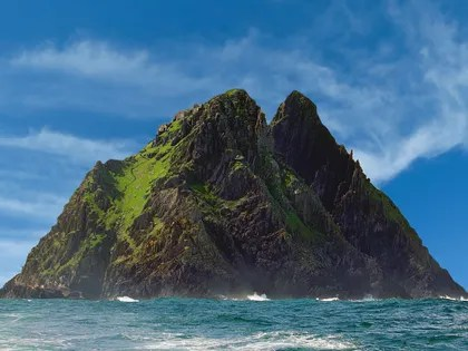 This image may contain Land, Outdoors, Nature, Ocean, Water, Sea, Shoreline, Coast, Promontory, Island, and Cliff