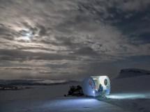 Sleep Under Northern Lights In Finnish 'bubble Sled