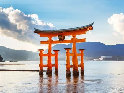 Image may contain: Gate, Torii, and Building