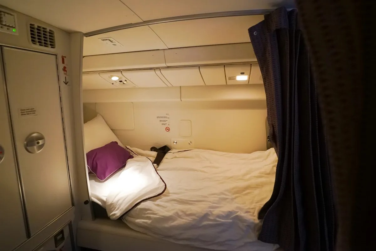 This Is Where Flight Attendants and Pilots Sleep on Planes