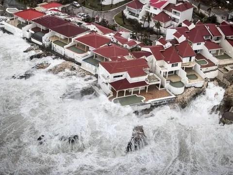 hurricane irma reduces caribbean