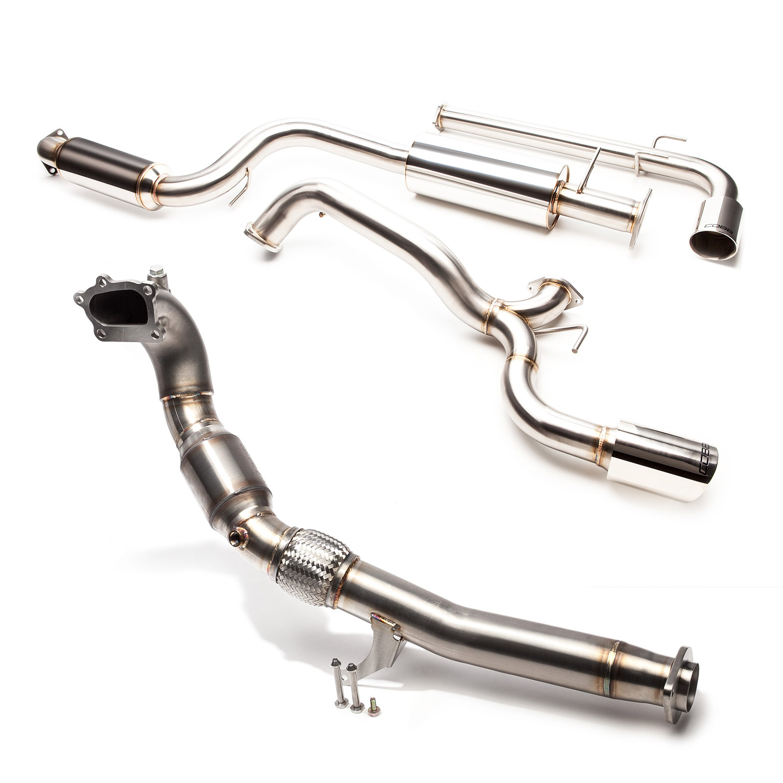 cobb 3 inch turbo back exhaust system with cat 2013 2015 ford focus st