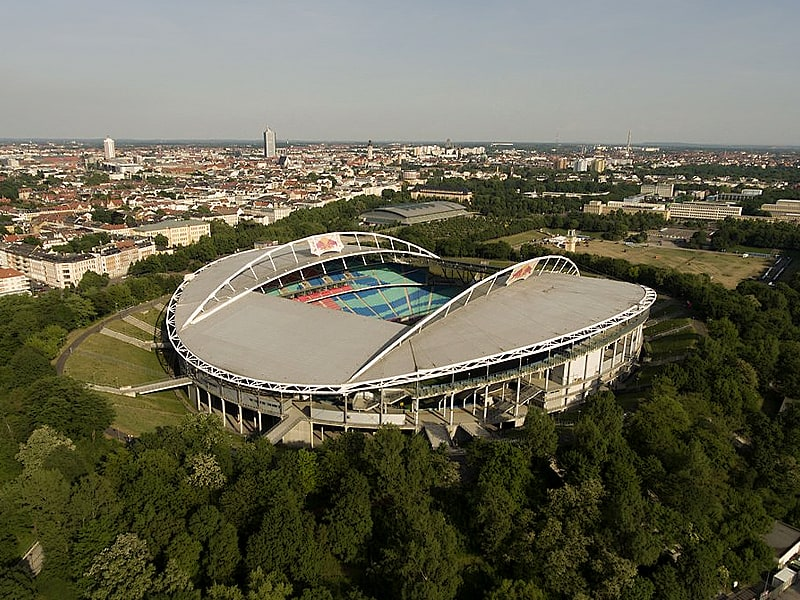 Rb leipzig test match with fans! Redecoration On For Germany S Red Bull Arena Coliseum