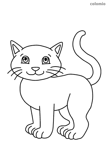 Cats coloring pages » Free & Printable » Cat coloring sheets