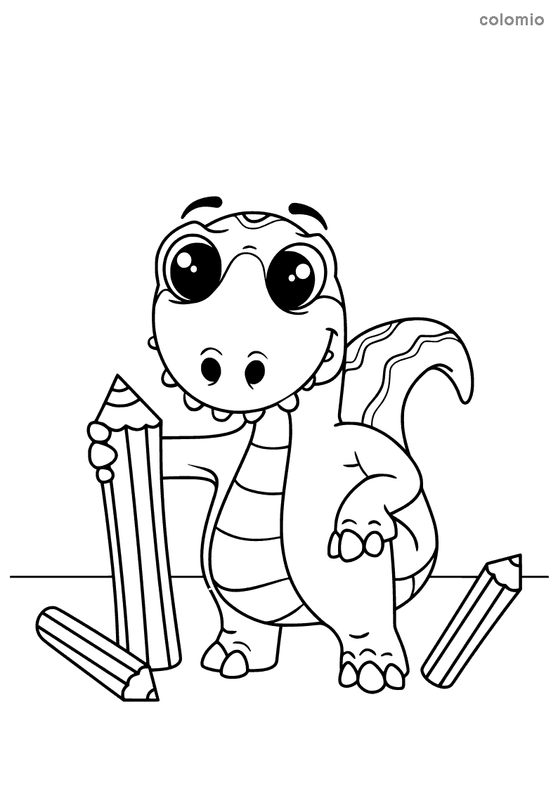 Dinosaur coloring pages » Free Printable Coloring Pages
