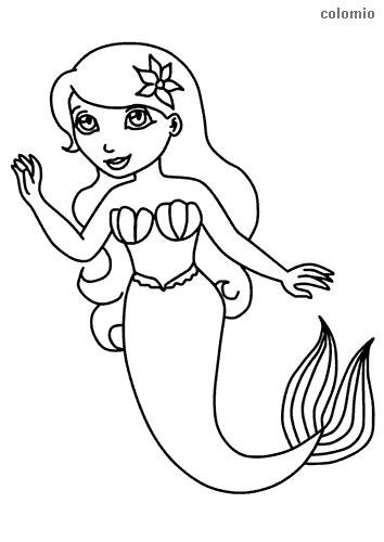 Mermaids Coloring Pages Free Printable Mermaid Coloring Sheets