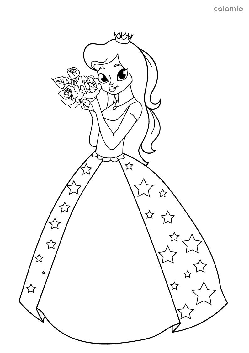Princess Dress Coloring Page : princess, dress, coloring, Princesses, Coloring, Pages, Printable, Princess, Sheets