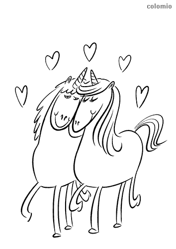 Unicorns coloring pages » Free & Printable » Unicorn