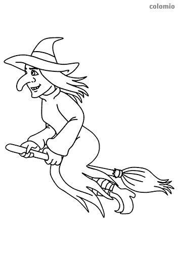 Witches Coloring Pages Free Printable Witch Coloring Sheets