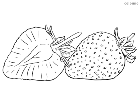 Strawberries coloring pages » Free & Printable ...