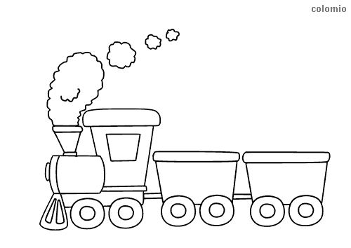 Trains Coloring Pages Free Printable Train Coloring Sheets