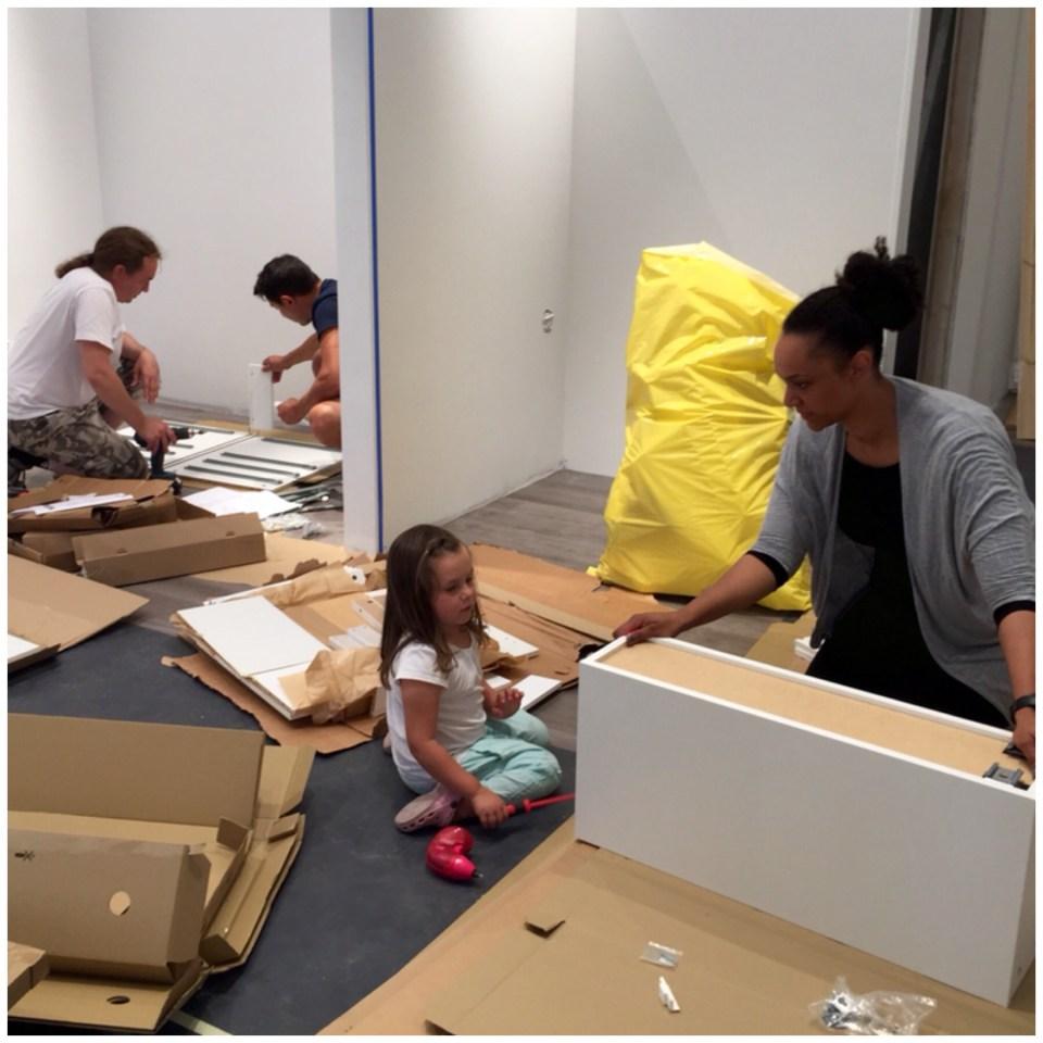 Full aktivitet på Colours by Jenny Hansson en vecka innan öppning!!