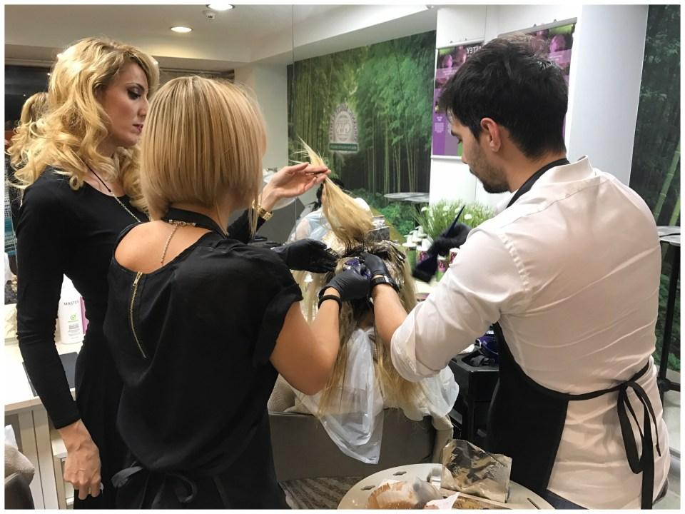 Jag utbildade frisörerna i Rumänien
